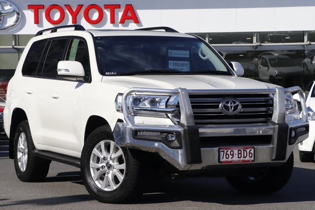 Pre-Owned Toyota Landcruiser VDJ200R VX Upper Mount Gravatt, 2017 Toyota Landcruiser VDJ200R VX Crystal Pearl 6 Speed Sports Automatic Wagon