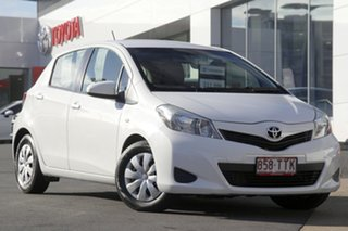 2014 Toyota Yaris NCP130R YR White 4 Speed Automatic Hatchback.
