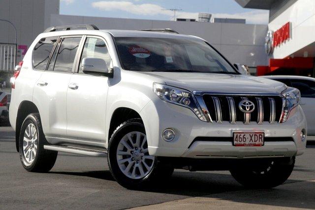 Pre-Owned Toyota Landcruiser Prado GDJ150R VX Woolloongabba, 2015 Toyota Landcruiser Prado GDJ150R VX White 6 Speed Sports Automatic Wagon