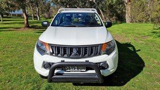 2017 Mitsubishi Triton MQ MY17 GLX 4x2 White 5 Speed Manual Cab Chassis.