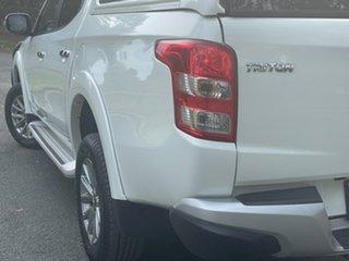 2017 Mitsubishi Triton MQ MY18 GLS Double Cab White 6 Speed Manual Utility.