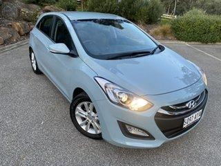 2013 Hyundai i30 GD Elite Stone Blue 6 Speed Sports Automatic Hatchback.