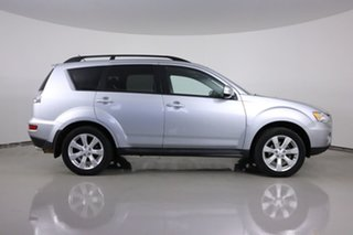 2012 Mitsubishi Outlander ZH MY12 XLS Silver 6 Speed CVT Auto Sequential Wagon