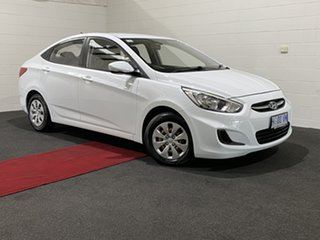 2017 Hyundai Accent RB4 MY17 Active Crystal White 6 Speed Constant Variable Sedan.