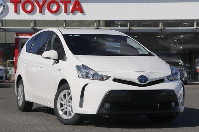 Pre-Owned Toyota Prius v ZVW40R Upper Mount Gravatt, 2019 Toyota Prius v ZVW40R White 1 Speed Constant Variable Wagon Hybrid