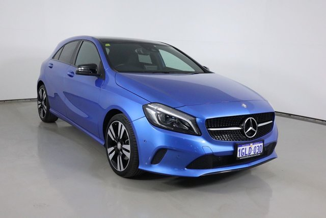 Used Mercedes-Benz A180 176 MY17 Bentley, 2017 Mercedes-Benz A180 176 MY17 Blue 7 Speed Automatic Hatchback