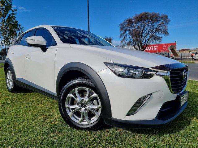 Used Mazda CX-3 DK2W7A Maxx SKYACTIV-Drive Hindmarsh, 2017 Mazda CX-3 DK2W7A Maxx SKYACTIV-Drive Snowflake White 6 Speed Sports Automatic Wagon