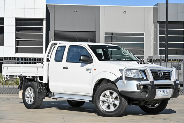 Used Toyota Hilux KUN26R MY14 SR Xtra Cab Pakenham, 2014 Toyota Hilux KUN26R MY14 SR Xtra Cab White 5 Speed Manual Cab Chassis