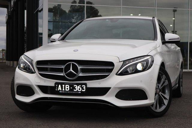 Used Mercedes-Benz C-Class W205 807MY C200 7G-Tronic + Epsom, 2016 Mercedes-Benz C-Class W205 807MY C200 7G-Tronic + White 7 Speed Sports Automatic Sedan