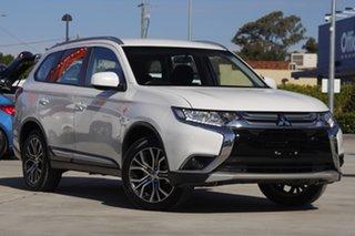 2018 Mitsubishi Outlander ZL MY18.5 ES AWD White 6 Speed Constant Variable Wagon.