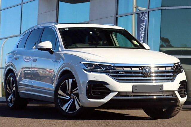 New Volkswagen Touareg CR MY21 210TDI Tiptronic 4MOTION R-Line Liverpool, 2021 Volkswagen Touareg CR MY21 210TDI Tiptronic 4MOTION R-Line Pure White 8 Speed Sports Automatic