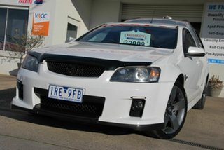 2009 Holden Commodore VE MY10 SS White 6 Speed Automatic Utility.