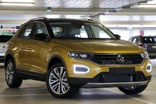 2021 Volkswagen T-ROC A1 MY21 110TSI Style Tumeric Yellow 8 Speed Sports Automatic Wagon.