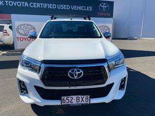 2018 Toyota Hilux GUN126R MY19 SR5 (4x4) Glacier White 6 Speed Manual Double Cab Pick Up.