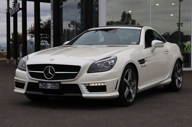 Used Mercedes-Benz SLK-Class R172 SLK55 AMG SPEEDSHIFT PLUS Epsom, 2012 Mercedes-Benz SLK-Class R172 SLK55 AMG SPEEDSHIFT PLUS White 7 Speed Sports Automatic Roadster