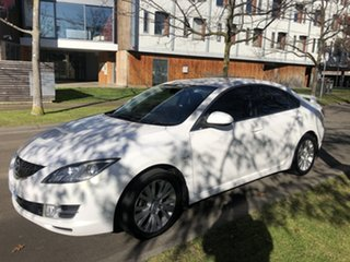 2009 Mazda 6 GH1051 MY09 Classic Pearl White 5 Speed Sports Automatic Sedan