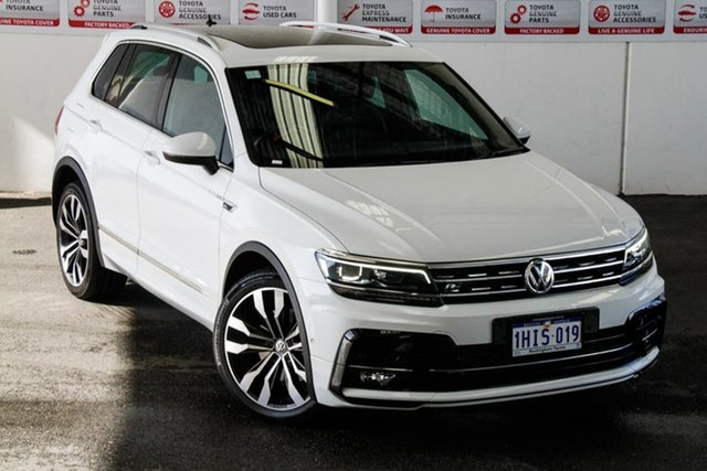 Pre-Owned Volkswagen Tiguan 5NA MY19 162 TSI Highline Rockingham, 2019 Volkswagen Tiguan 5NA MY19 162 TSI Highline White 7 Speed Auto Direct Shift Wagon