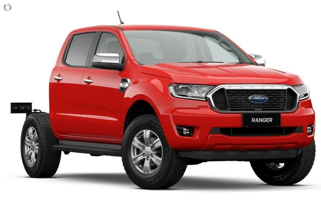 New Ford Ranger PX MkIII 2021.25MY XLT Double Cab Oakleigh, 2021 Ford Ranger PX MkIII 2021.25MY XLT Double Cab Red 10 Speed Sports Automatic Double Cab Chassis