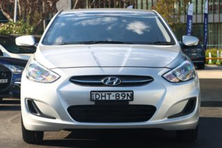 2016 Hyundai Accent RB4 MY16 Active Silver 6 Speed CVT Auto Sequential Sedan