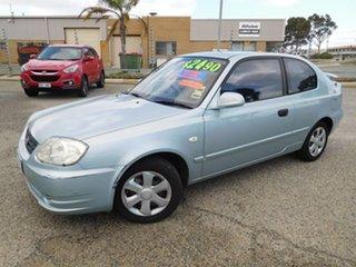 2004 Hyundai Accent LC MY04 GL Blue 5 Speed Manual Hatchback.