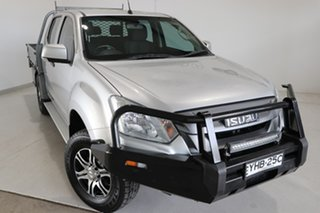 2017 Isuzu D-MAX MY17 SX Crew Cab Silver 6 Speed Sports Automatic Cab Chassis.
