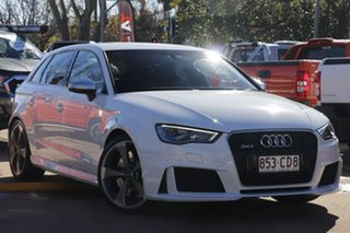 2016 Audi RS 3 8V MY16 Sportback S Tronic Quattro White 7 Speed Sports Automatic Dual Clutch.