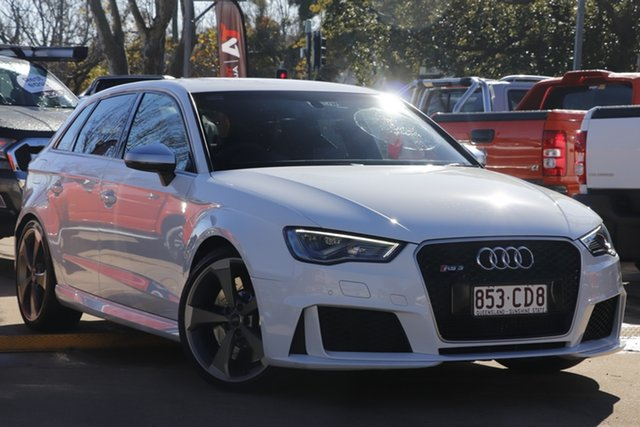 Used Audi RS 3 8V MY16 Sportback S Tronic Quattro Toowoomba, 2016 Audi RS 3 8V MY16 Sportback S Tronic Quattro White 7 Speed Sports Automatic Dual Clutch