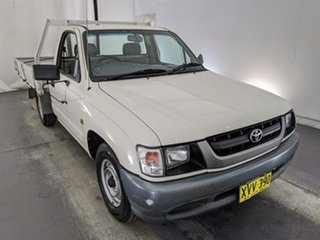 2002 Toyota Hilux LN147R MY02 4x2 White 5 Speed Manual Cab Chassis.
