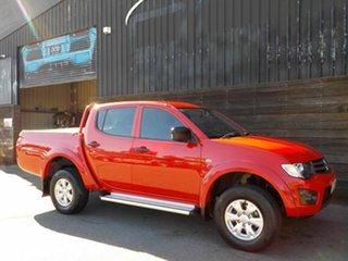 2015 Mitsubishi Triton MQ MY16 GLX Double Cab Red 5 Speed Sports Automatic Utility.
