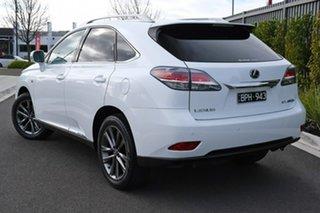 2013 Lexus RX GYL15R RX450h F Sport White 6 Speed Constant Variable Wagon Hybrid.