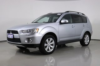 2012 Mitsubishi Outlander ZH MY12 XLS Silver 6 Speed CVT Auto Sequential Wagon.