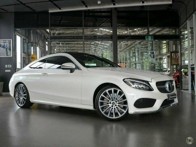 Used Mercedes-Benz C-Class C205 808MY C300 9G-Tronic North Melbourne, 2017 Mercedes-Benz C-Class C205 808MY C300 9G-Tronic White 9 Speed Sports Automatic Coupe