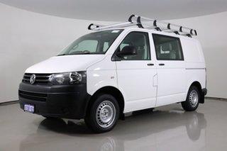 2014 Volkswagen Transporter T5 MY14 TDI 340 Crewvan LWB White 7 Speed Auto Direct Shift Van.
