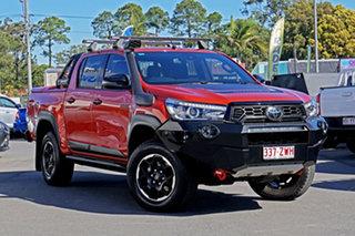 2020 Toyota Hilux GUN126R Rugged X Double Cab Orange 6 Speed Sports Automatic Utility.