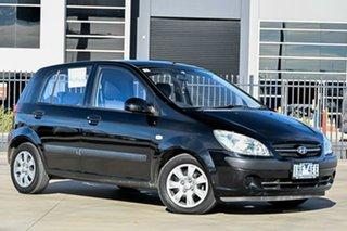 2007 Hyundai Getz TB MY06 Black 5 Speed Manual Hatchback.
