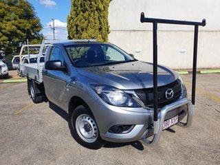 2017 Mazda BT-50 UR0YE1 XT 4x2 Aluminium 6 Speed Manual Cab Chassis.