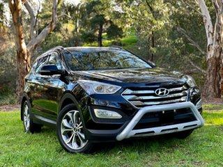 2014 Hyundai Santa Fe DM MY14 Highlander Phantom Black/cashme 6 Speed Sports Automatic Wagon.