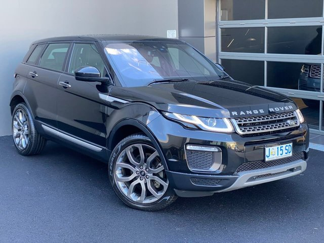 Used Land Rover Range Rover Evoque L538 MY16.5 HSE Hobart, 2016 Land Rover Range Rover Evoque L538 MY16.5 HSE Black 9 Speed Sports Automatic Wagon