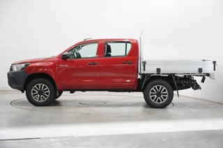 2017 Toyota Hilux GUN125R Workmate Double Cab Red 6 Speed Sports Automatic Cab Chassis.