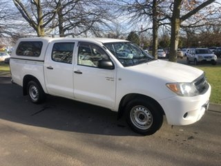 2008 Toyota Hilux GGN15R MY08 SR 4x2 White 5 Speed Automatic Utility.