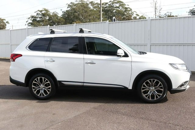 Used Mitsubishi Outlander ZK MY16 Exceed 4WD North Gosford, 2016 Mitsubishi Outlander ZK MY16 Exceed 4WD White 6 Speed Sports Automatic Wagon