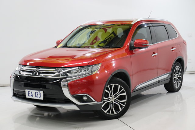 Used Mitsubishi Outlander ZK MY16 Exceed 4WD Brooklyn, 2015 Mitsubishi Outlander ZK MY16 Exceed 4WD Red 6 Speed Constant Variable Wagon