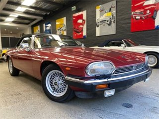 1989 Jaguar XJS V12 Red 3 Speed Automatic Convertible.