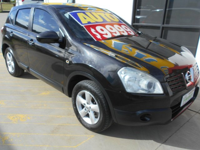 Used Nissan Dualis J10 MY2009 ST Hatch X-tronic Springwood, 2009 Nissan Dualis J10 MY2009 ST Hatch X-tronic Black 6 Speed Constant Variable Hatchback