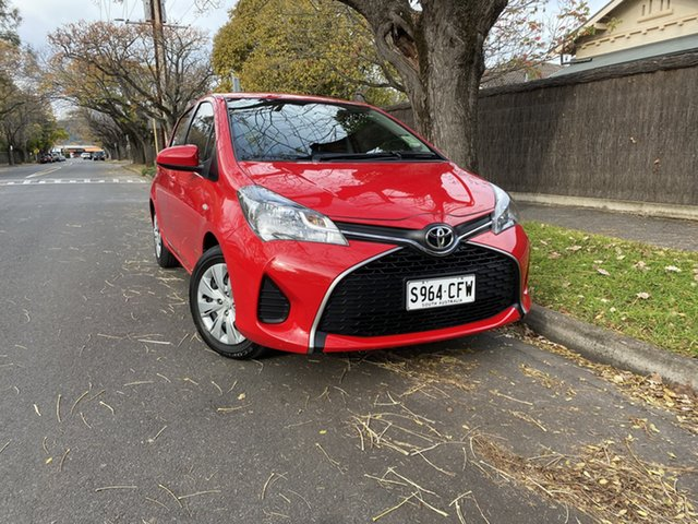 Pre-Owned Toyota Yaris NCP130R Ascent Hawthorn, 2016 Toyota Yaris NCP130R Ascent Red 4 Speed Automatic Hatchback