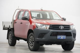 2017 Toyota Hilux GUN125R Workmate Double Cab Red 6 Speed Sports Automatic Cab Chassis