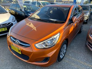 2015 Hyundai Accent RB3 MY16 Active Gold 6 Speed Constant Variable Hatchback.