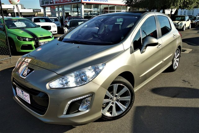 Used Peugeot 308 T7 MY12 Allure Seaford, 2012 Peugeot 308 T7 MY12 Allure Gold 6 Speed Sports Automatic Hatchback
