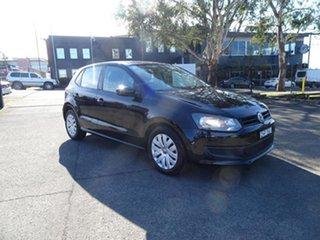 2012 Volkswagen Polo 6R MY12.5 Trendline DSG Black 7 Speed Automatic Hatchback.