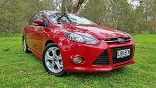 2014 Ford Focus LW MkII Sport PwrShift Candy Red 6 Speed Sports Automatic Dual Clutch Hatchback.